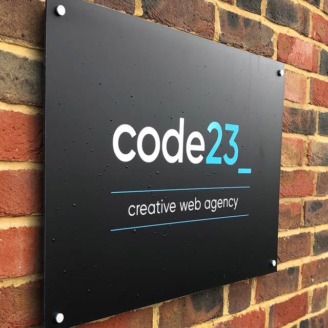 Code23 Web Development Signage