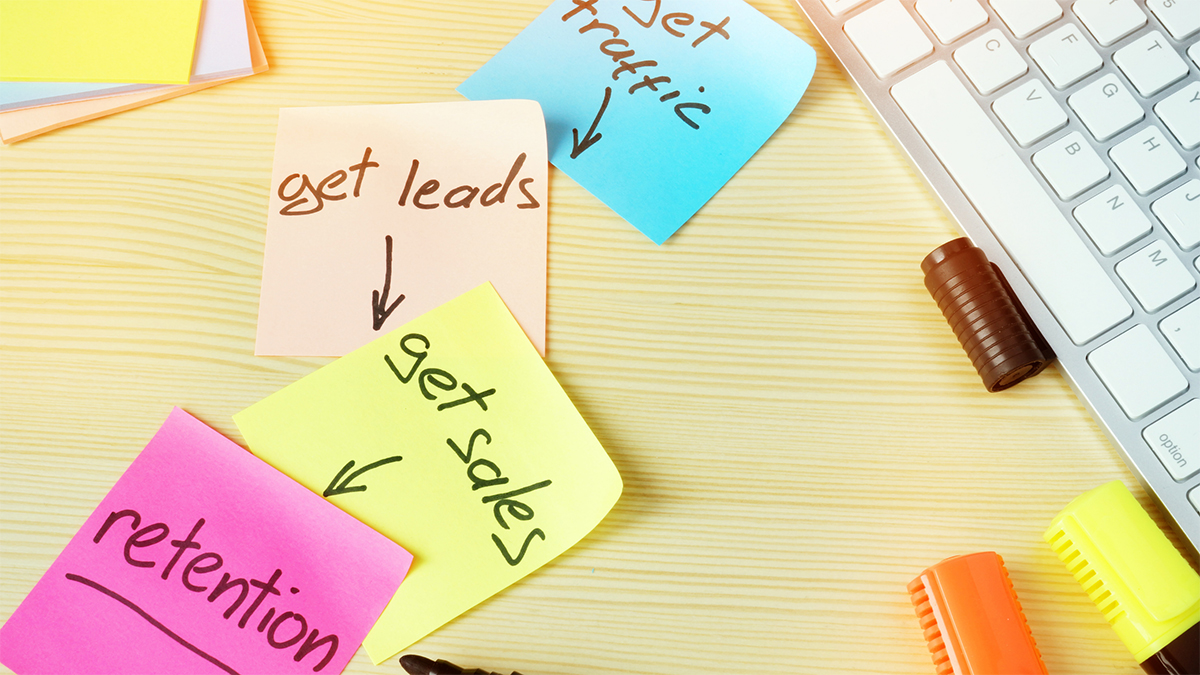 Sales Funnel Post It Notes