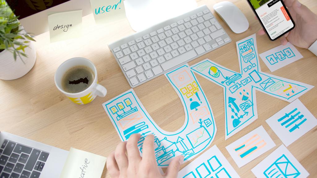 UX Design sketches for a workshop