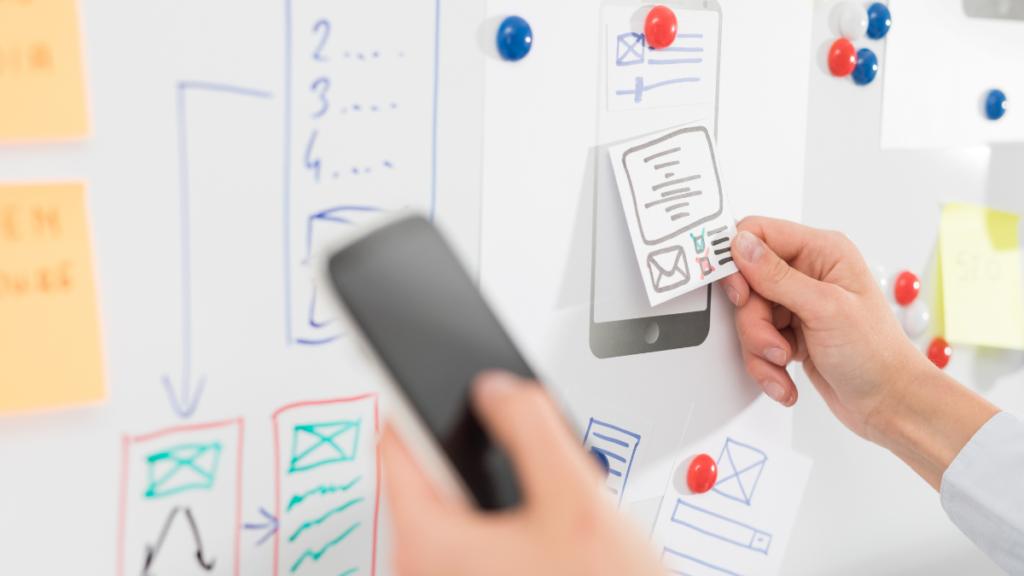 Minimum viable product planning at UX workshop