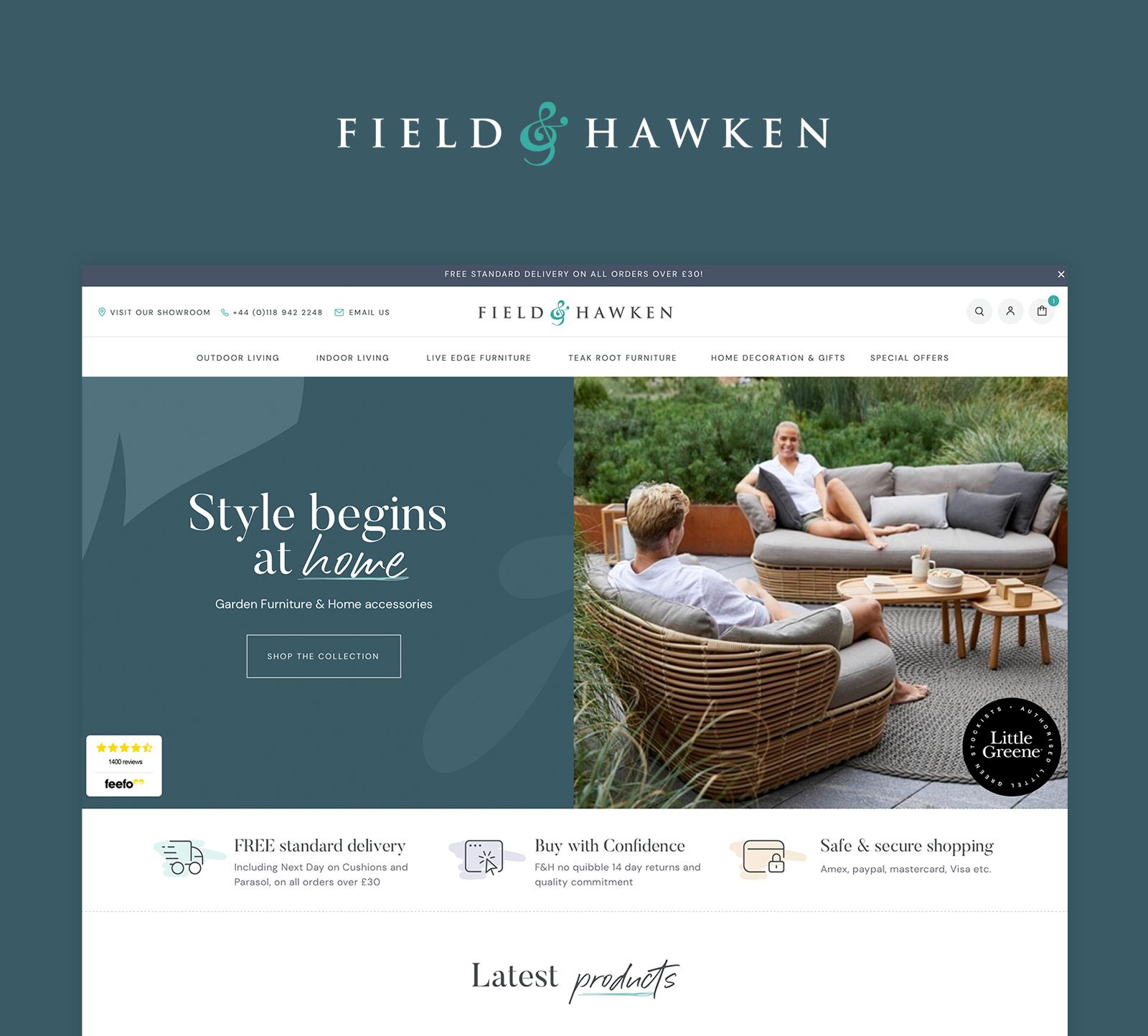 website design for field & hawkin